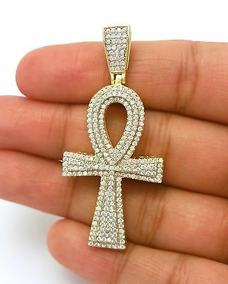 Ancient  Egyptian Ankh Key Of Life Gold Cross Pendant Only
