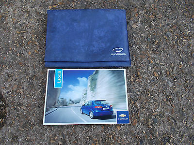 Chevrolet Lacetti  Hatchback Models 2004-2010 Owners Manual / Hand Book & Wallet