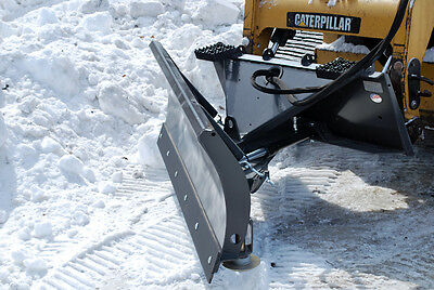 "84"" - Skid Steer Hydraulic Angle Snow Blade Attachment 