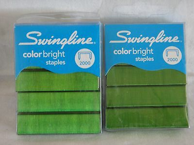 Swingline Color Bright Staples - SWI35121 2 Packs x 2000 Green