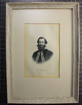 Antique Lithograph Of General Jeb Stuart Made 1862-1865 By Elias Dexter