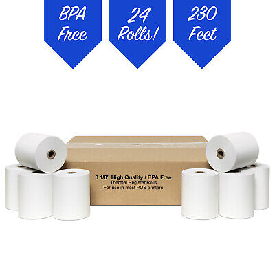 """(24 Rolls)- 3-1/8"""" x 230' BPA Free Thermal Paper(Citizen CT-S310)"""