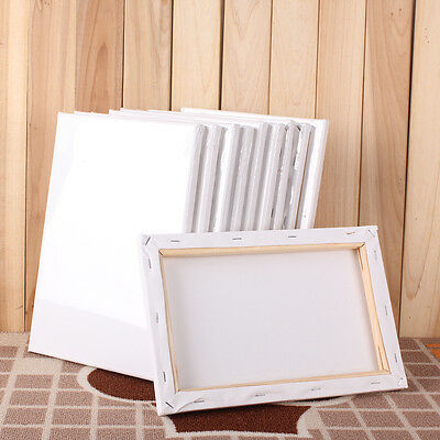 Stretched Blank Drawing Canvas Art Wood Frame Artist Painting Draw Multi Sizes