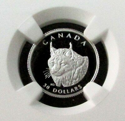 1995 Platinum Canada $30 Wildlife Lynx 1/10 Oz Coin Ngc Proof 70 Ultra Cameo