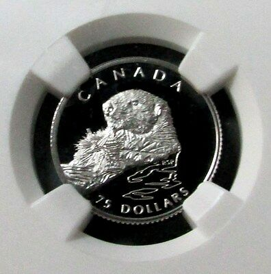 1994 Platinum Canada $75 Wildlife Sea Otter 1/4 Oz Coin Ngc Proof 69 Ultra Cameo