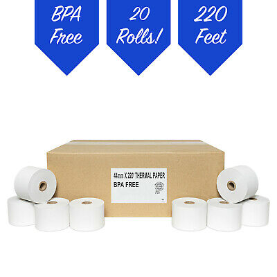 20 ROLLS SHARP XE-A506 1.75 44mm THERMAL CASH REGISTER PAPER