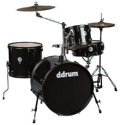 DDrum D2 Rock - Black Sparkle Drum Kit with hardware included