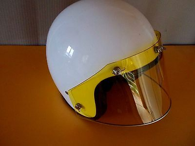 Open face helmet 5 Snap Shield Yellow GRAND PRIX Vintage style