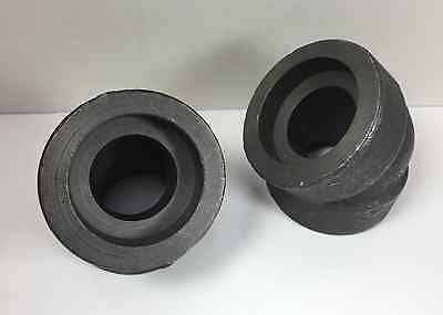 "2"" Forged Steel Class 6000 45 Degree Elbow Socket Weld Qty. 2 New"