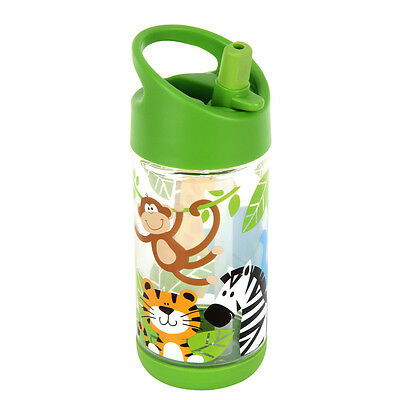 NEW Stephen Joseph Children's Zoo Flip Top Straw Drink Bottle Kids Toddler