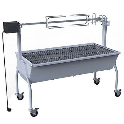 #b NEW STAINLESS STEEL PIG ROTISSERIE GRILL