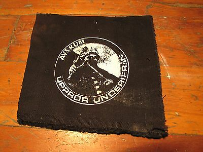 AVSKUM Screen printed thick canvas crust patch punk hardcore grind anarchy