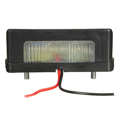 2x 12V 24V LED Licence Plate Light Rear Tail Camper Truck Trailer Lorry WS