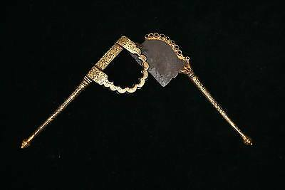 Antique Rare Fine Gold Damascened BETEL NUT CUTTER 19c