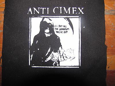 Anti Cimex Screen printed thick canvas crust patch punk hardcore grind anarchy