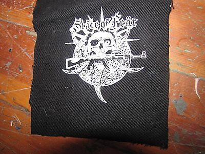 STATE OF FEAR Screen printed thick canvas crust patch punk hardcore