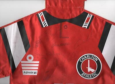 CHARLTON ATHLETIC Signed Football Shirt Large Pennant 1991/92 FREE POST UK