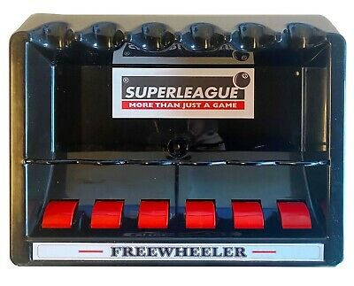 Rollerball Freewheeler Pool Cue Rack For 6 Cues - Wall Mounted Cue Rack