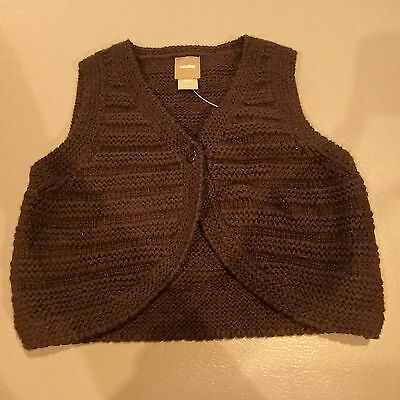 "Girls Size 18-24 Months ""Baby Gap"" Brown Knit Vest BNWT Bargain Price!"