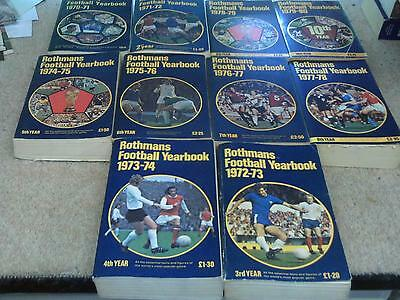 ROTHMANS Football Yearbook's No1 to No10 softback FREE POSTAGE UK