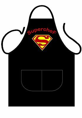 Unisex Black Printed Novelty Apron, For The Best Chefs, This Is Superchef!