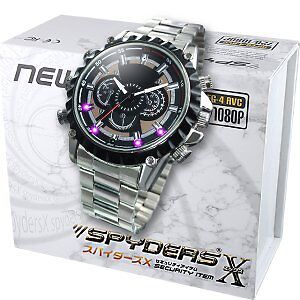 Spiders X wristwatch camera miniature camera Spy Camera (W-702) black dial
