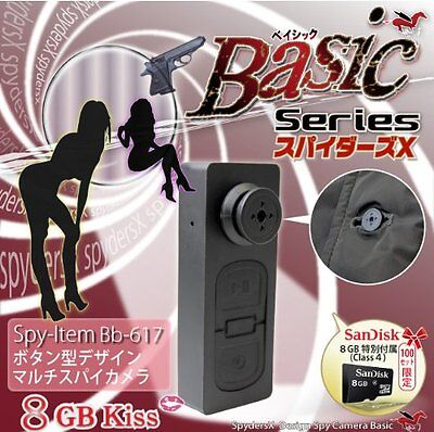 Spiders X button-type camera miniature camera Spy Camera (Bb-617) with SD card