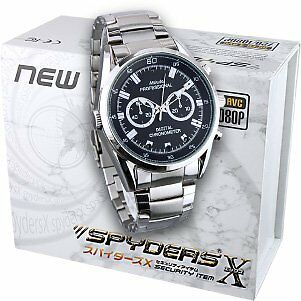 Spiders X wristwatch camera miniature camera Spy Camera (W-790) metal band
