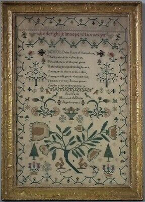 Antique Sampler, 1836 Rose of Sharon Sampler by Ann Baylis