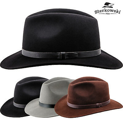 9bce4ed3df9fe Redwood Wool Felt Wide Brim Fedora Hat   Elegant Retro Manly Cowboy  Cattleman