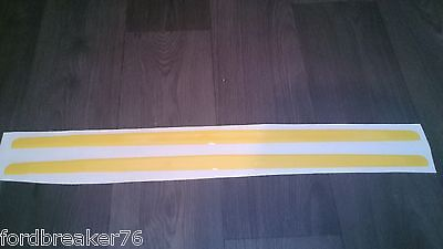 Ford Focus Mk2 St Pre Facelift Domed Gel Bonnet Lip/stone Protector Yellow