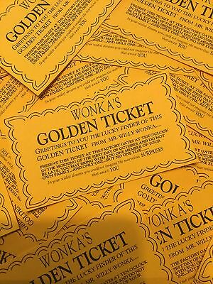 Lot of 3 Willy Wonka & The Chocolate Factory Golden Ticket Prop/Replica