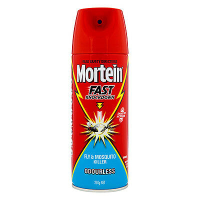 NEW Mortein Fly And Mosquito Killer Spray Fast Knockdown Odourless 250g