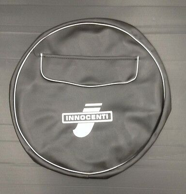 "Spare wheel cover 10"" black with zip pocket & Innocenti logo for Lambretta"