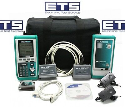 Fluke MicroTest OmniScanner Certifier CAT5 CAT5E CAT6 Digital Analyzer