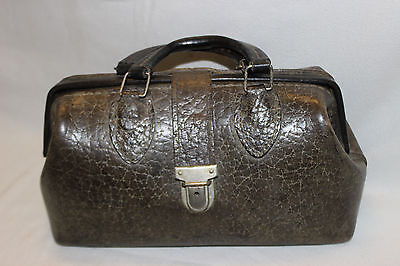 Vintage Cowhide Leather Homa Kruse Medical Doctors Bag