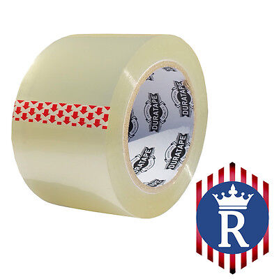 """3"""" X 110 YD CLEAR CARTON SEALING BOX TAPE 2.3mil (Ships Today)"""