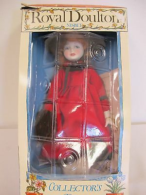 Royal Doulton Nisbet  Collectors Doll In Box Porcelain  Kate Greenway Winter