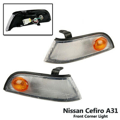 Left + Right Front Corner Indicator Signal Light Fit For Nissan Cefiro A31 88-94
