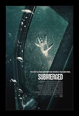 SUBMERGED framed movie poster 11x17 Quality Wood Frame