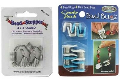Bead Bugs & Bead Stoppers - Bead Happy! No More Spills! Assorted Styles & Packs