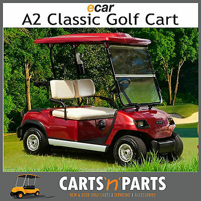 Golf Cart /Buggy NEW 2 Seat Electric Ecar-A2-Classic Golf Cart-Metallic Burgundy