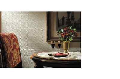 New Graham & Brown 56 sq.ft.1 Double Roll Ceiling Tile Paintable White Wallpaper