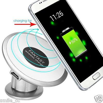 New Qi Wireless Car Charger Fast Transmitter Holder For Samsung Galaxy S6 S7