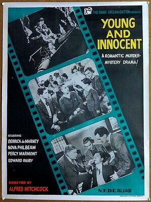 """Young And Innocent 1937 Alfred Hitchcock 30"""" x 40"""" India poster"""