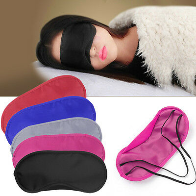 2Pcs Silky Sleep Eye Mask Rest Aid Blindfold Travel Sleeping Shade Cover Comfort