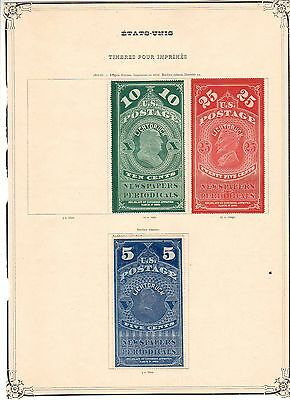 Usa....timbres Journaux 2+3+4