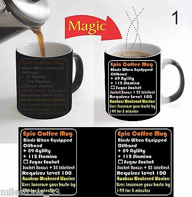Epic Coffee MMO LEGENDARY Fan Tasse Color Change Magic Coffee Mug Gaming gift