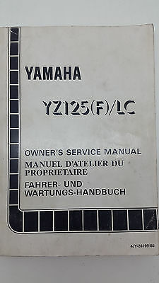 Yamaha Motorbike YZ125(F)/LC Factory Owners Service Manual. 1st ed., August 1993