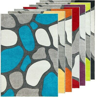 New Modern Small Extra Large Carved Quality Colourful Thick Runner Rugs Mats UK